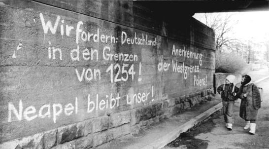 """We demand: Germany with the borders of 1254! Naples remains ours!"""