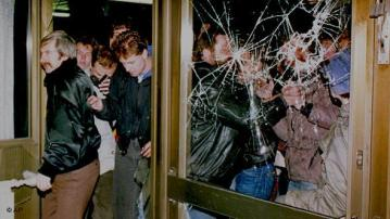 Occupation of Stasi Headquarters in East Berlin. January 15, 1990.