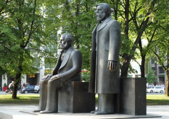 The Marx-Engels monument today.