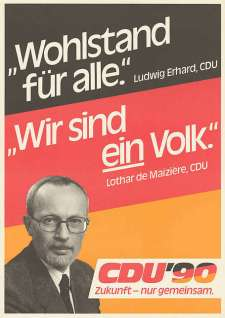 CDU election poster from 1990