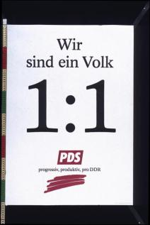 PDS election poster from 1990
