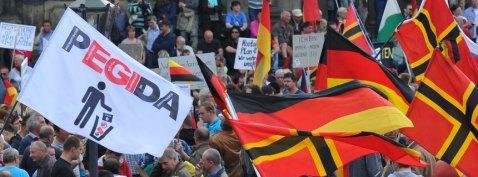 Kundgebung Pegida in Dresden