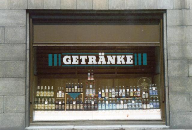 Drinks shop window